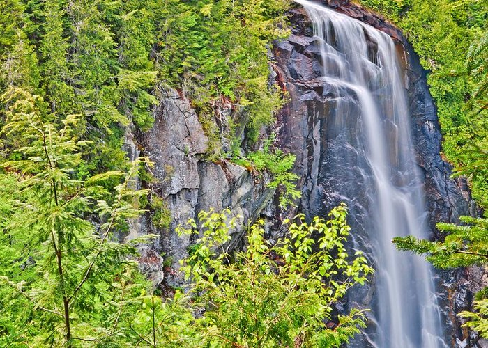 Ok Slip Falls Greeting Card featuring the photograph Ok Slip Falls Two by Marisa Geraghty Photography
