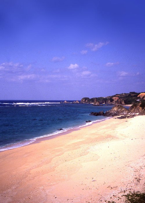 Okinawa Greeting Card featuring the photograph Okinawa Beach 22 by Curtis J Neeley Jr