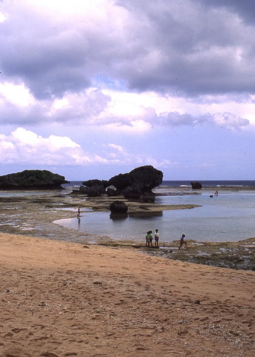 Okinawa Greeting Card featuring the photograph Okinawa Beach 3 by Curtis J Neeley Jr