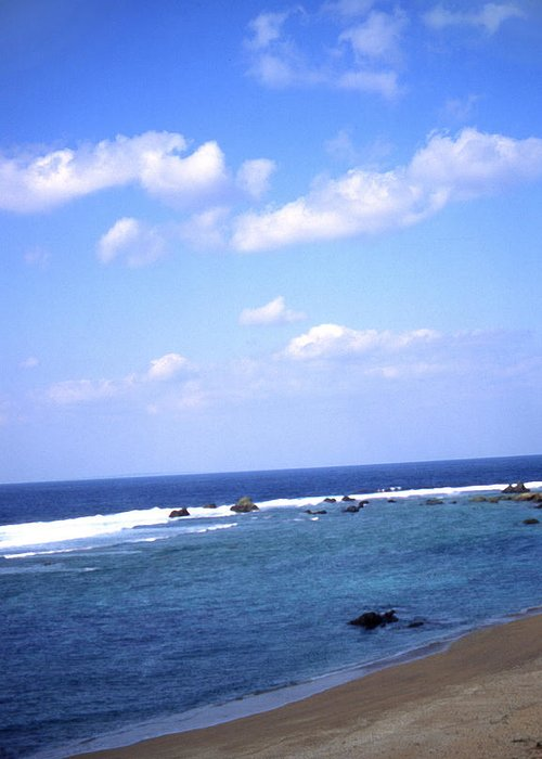 Okinawa Greeting Card featuring the photograph Okinawa Beach 7 by Curtis J Neeley Jr