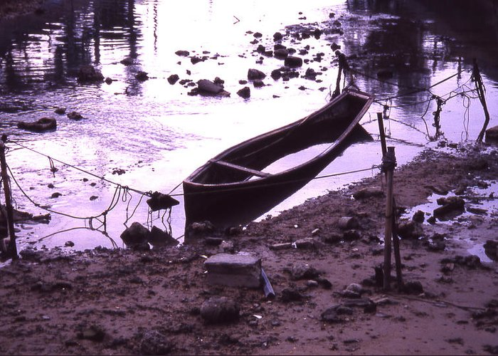 Greeting Card featuring the photograph Okinawa Canoe Parking by Curtis J Neeley Jr