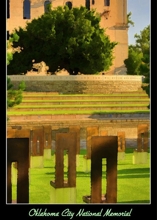 Oklahoma Greeting Card featuring the photograph Oklahoma City National Memorial by Ricky Barnard