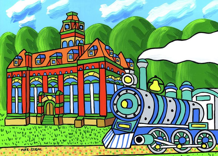 Courthouse Greeting Card featuring the painting Old Alachua County Courthouse by Mike Segal
