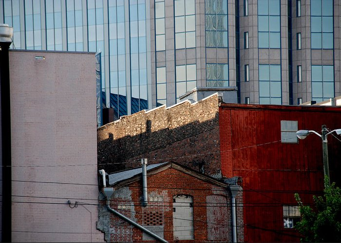 Nashville Greeting Card featuring the photograph Old And New Close Together by Susanne Van Hulst