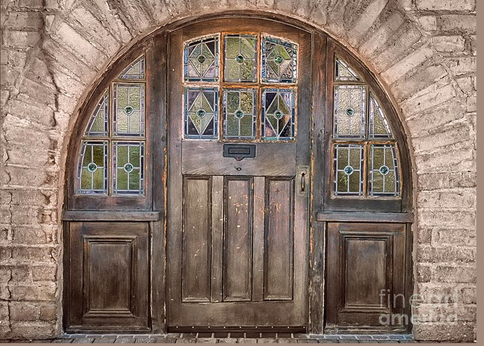 Southwest Greeting Card featuring the photograph Old Archway And Door by Sandra Bronstein