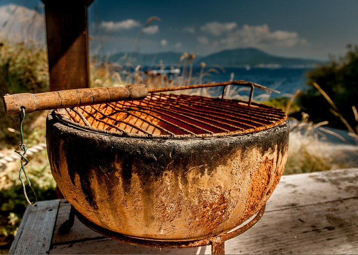 Barbecue Greeting Card featuring the photograph Old Barbecue by Dragan Tomic