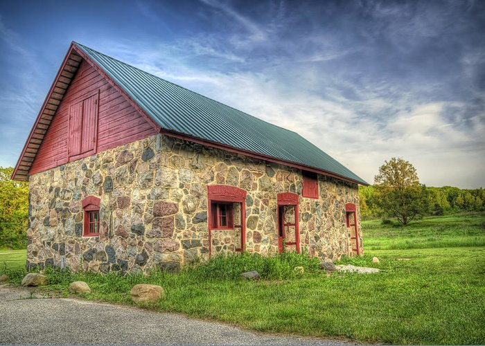 Barn Greeting Card featuring the photograph Old Barn At Dusk by Scott Norris