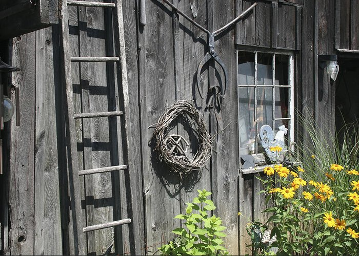 Barn Greeting Card featuring the photograph Old Barn II by Margie Wildblood