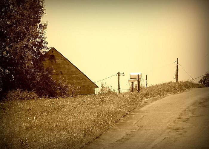 Barn Greeting Card featuring the photograph Old Barn by Keith Senecal