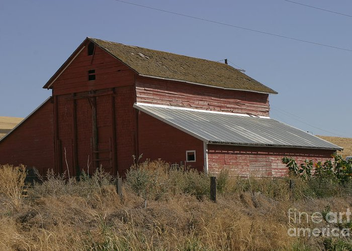 Old Greeting Card featuring the photograph Old Barn by Robert Torkomian