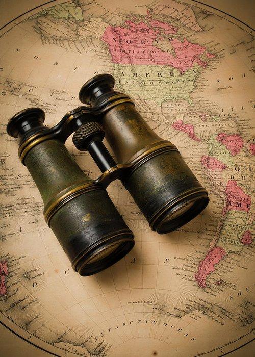 Designs Similar to Old Binoculars On Antique Map
