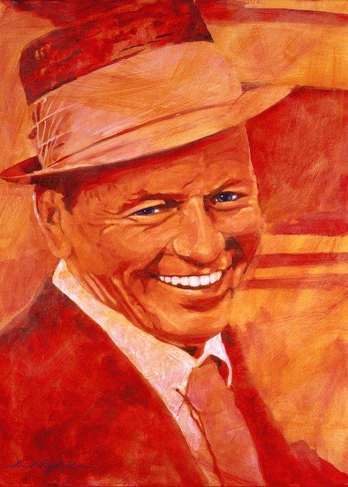 Frank Sinatra Paintings Greeting Cards