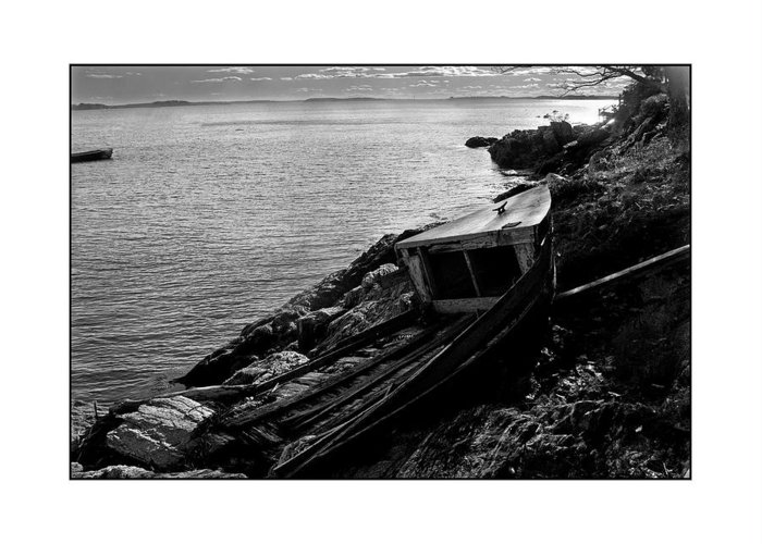Seascape Greeting Card featuring the photograph Old Boat by Filipe N Marques