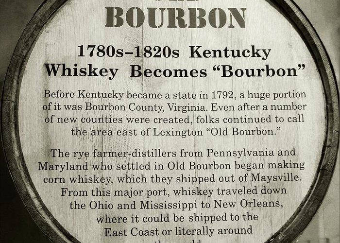 Bourbon Greeting Card featuring the photograph Old Bourbon by Mel Steinhauer