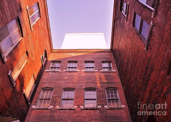 Architecture Greeting Card featuring the photograph Old Building In The Pointe by Reb Frost