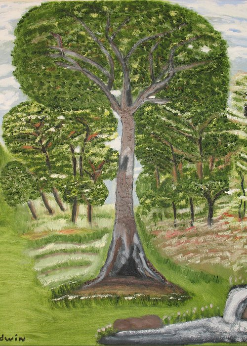 Trees Greeting Card featuring the painting Old But Strong by Edwin Long