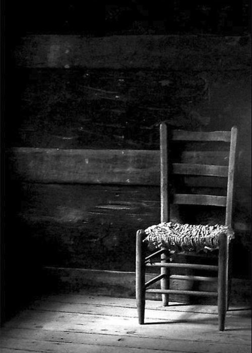 Still Life Greeting Card featuring the photograph Old Chair by Fred Wilson