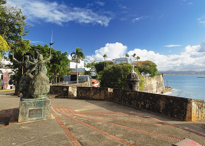 Puerto Rico Greeting Card featuring the photograph Old City In The Caribbean by George Oze