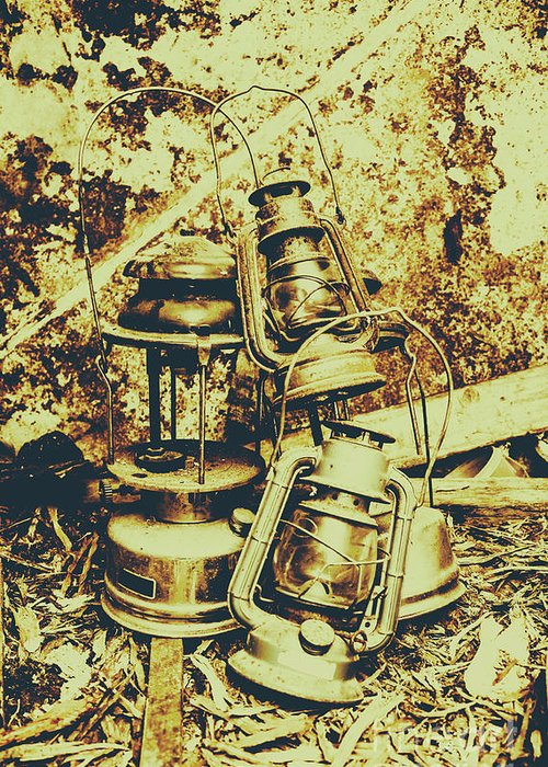 Lantern Greeting Card featuring the photograph Old Colonial Oil Lanterns In Pile by Jorgo Photography - Wall Art Gallery