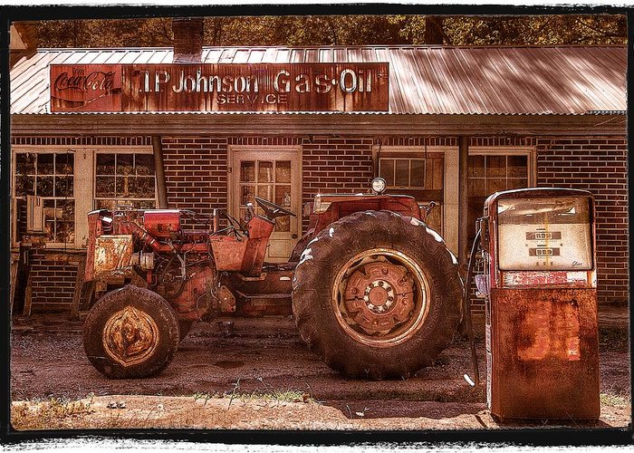 Appalachia Greeting Card featuring the photograph Old Days Vintage by Debra and Dave Vanderlaan