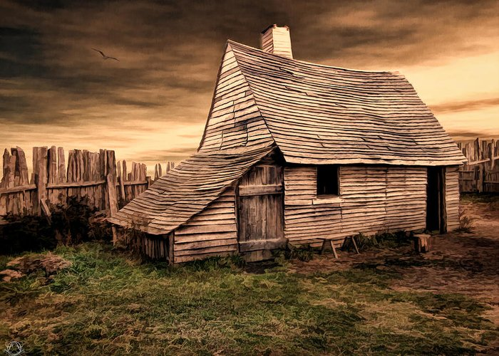Barn Greeting Card featuring the photograph Old English Barn by Lourry Legarde