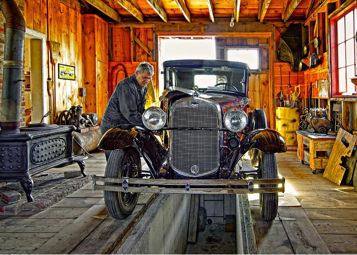 Oil Greeting Card featuring the photograph Old Fashioned Tlc by Steve Harrington