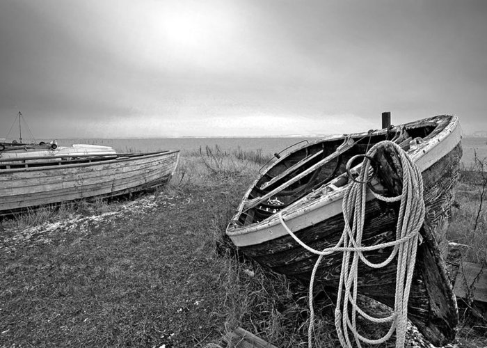 Fishing Boat Greeting Card featuring the photograph Old Fishing Boat by Robert Lacy