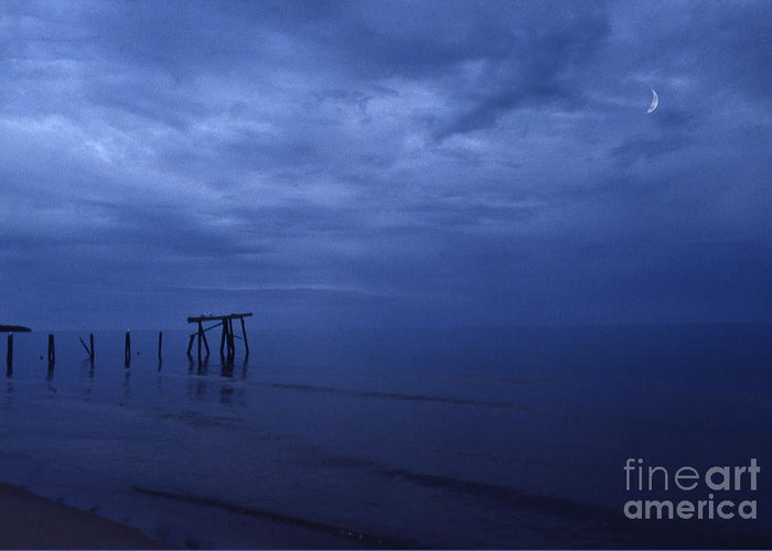 Pier Greeting Card featuring the photograph Old Fishing Pier by Timothy Johnson