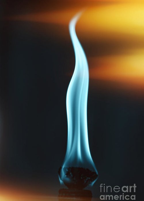 Flame Greeting Card featuring the photograph Old Flame by Rebecca Raybon