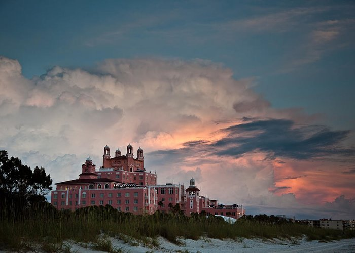 Don Cesar Greeting Card featuring the photograph Old Florida Hotel by Patrick Flynn