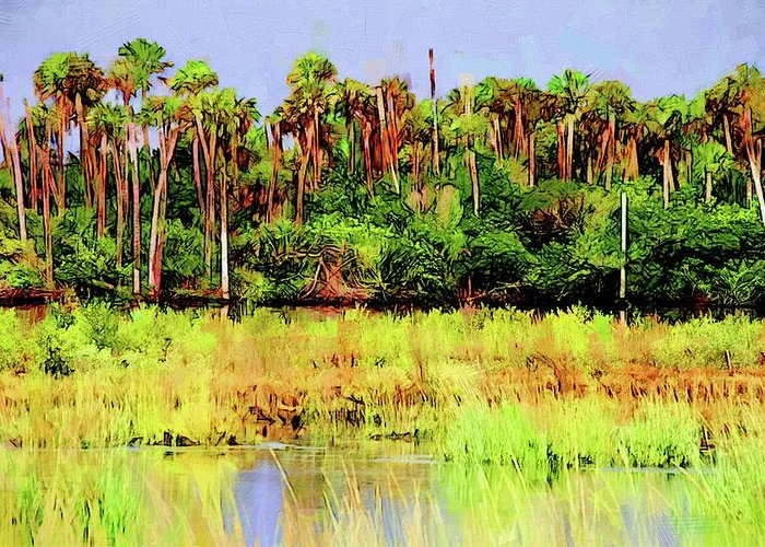 Alicegipsonphotographs Greeting Card featuring the photograph Old Florida Loop Palms by Alice Gipson