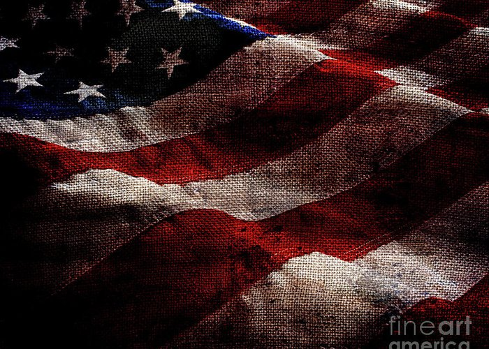 Old Glory Greeting Card featuring the photograph Old Glory II by Jon Neidert
