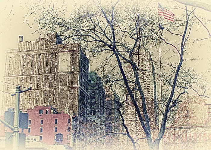 Old Fashioned Empire State Bulding Greeting Cards