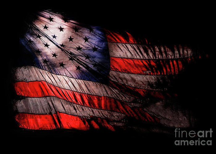 Old Glory Greeting Card featuring the photograph Old Glory by Jon Neidert