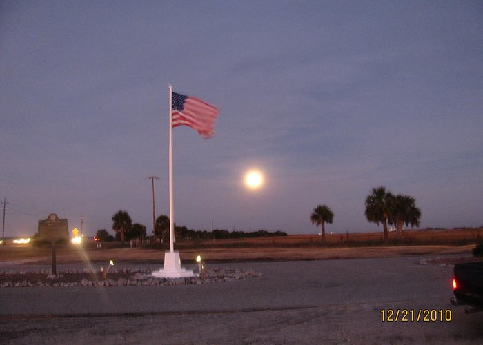 Morning After Eclipse Greeting Card featuring the photograph Old Glory Looking Awesome by Tyrone Spann