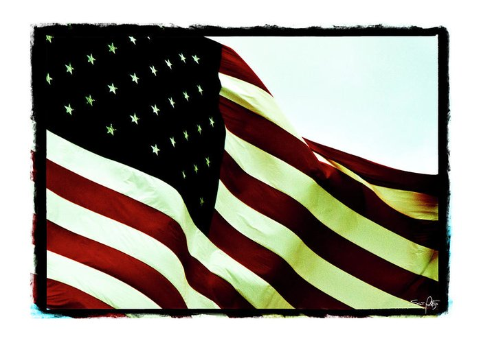 Digital Border Greeting Card featuring the photograph Old Glory by Scott Pellegrin