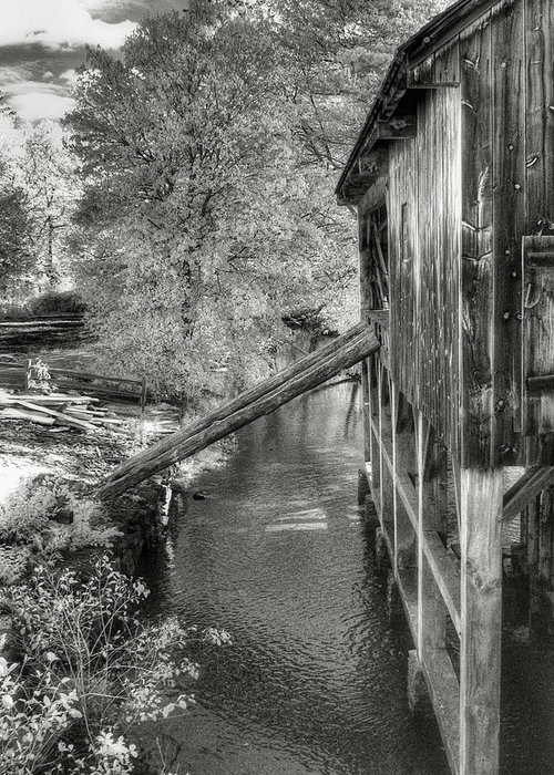 Old Mill Greeting Card featuring the photograph Old Grist Mill by Joann Vitali