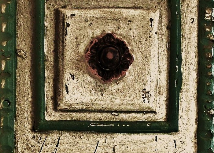 Photo Greeting Card featuring the photograph Old Knob Abstract by Marsha Heiken