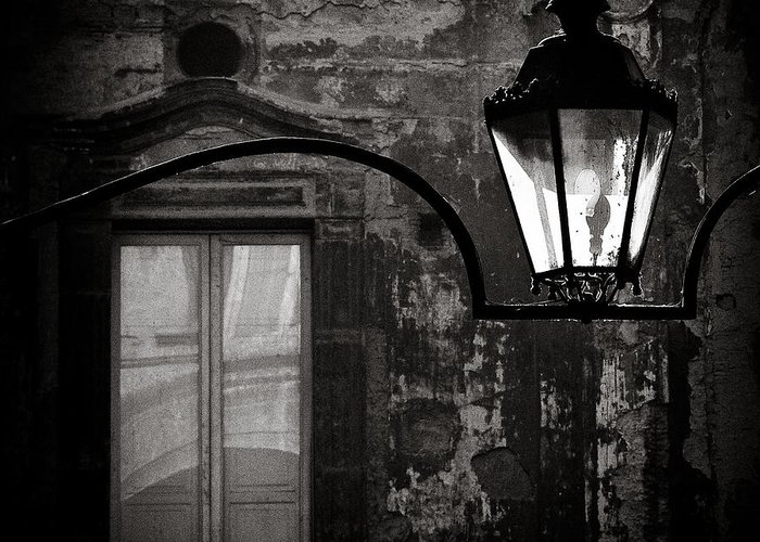 Naples Greeting Card featuring the photograph Old Lamp by Dave Bowman