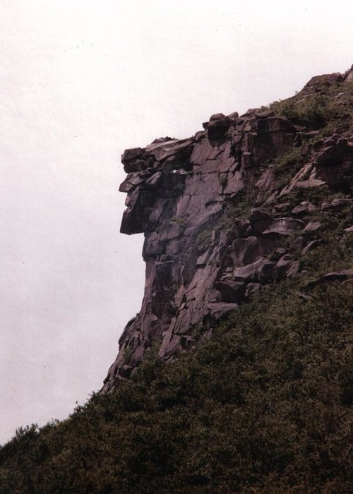Old Man Of The Mountain Greeting Card featuring the photograph Old Man Of The Mountain by Wayne Toutaint