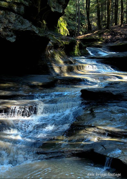 Landscapes. Water Falls Greeting Card featuring the photograph Old Man's Cave Ohio 2012 by Dale Briggs