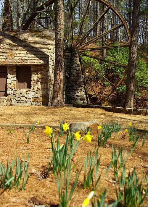Mill Greeting Card featuring the photograph Old Mill At Berry College by Rebecca McAllister