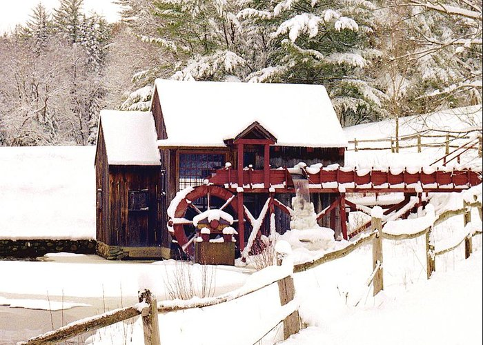 Greeting Card featuring the photograph Old Mill In Winter by Roger Soule