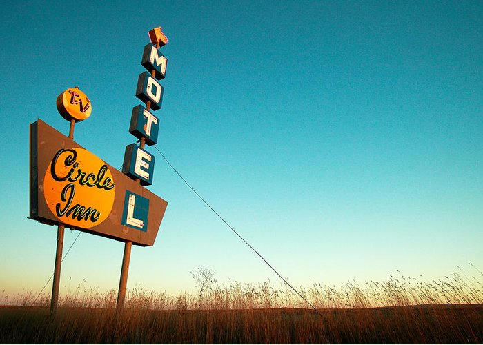 Motel Art Greeting Cards