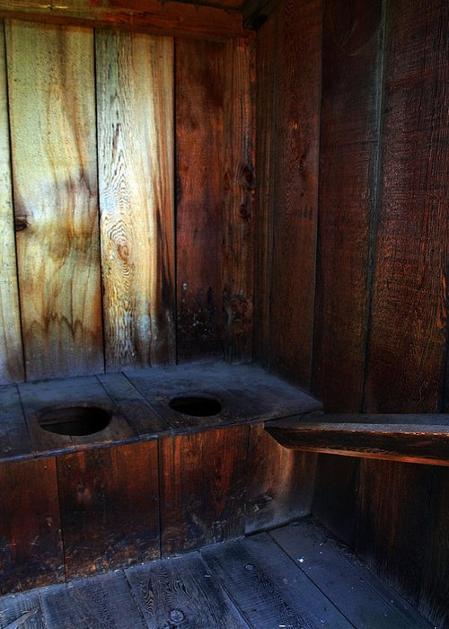 Fort Vancouver Greeting Card featuring the photograph Old Outhouse by Joanne Coyle