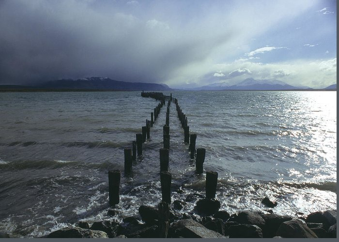 Pier Greeting Card featuring the photograph Old Pier by Marcus Best