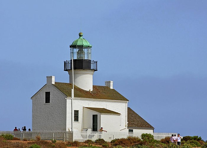 Old Point Loma Lighthouse Greeting Card featuring the photograph Old Point Loma Lighthouse San Diego California by Christine Till