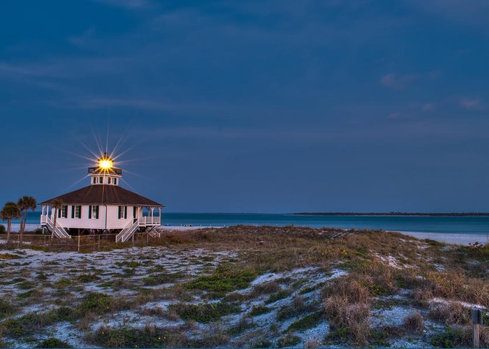 Lighthouse Greeting Card featuring the photograph Old Port Boca Grande Lighthouse by Rich Leighton