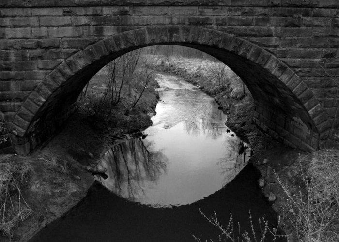 Railroad. Bridge Greeting Card featuring the photograph Old Railroad Bridge by Michael L Kimble