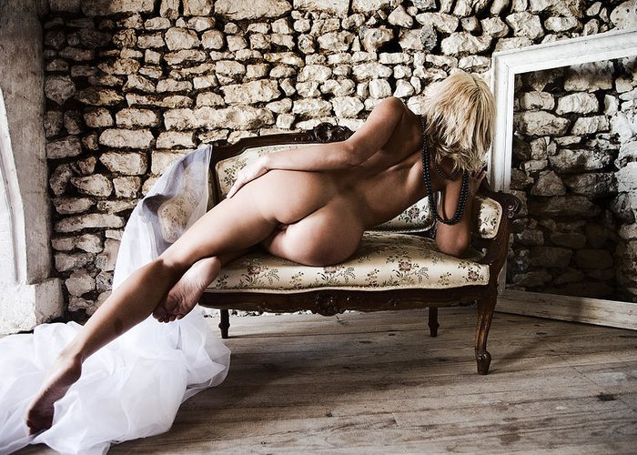 Sensual Greeting Card featuring the photograph Old Room by Olivier De Rycke